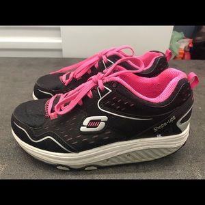 Skechers Shape UPS Black/Pink Toning Fitness Shoes